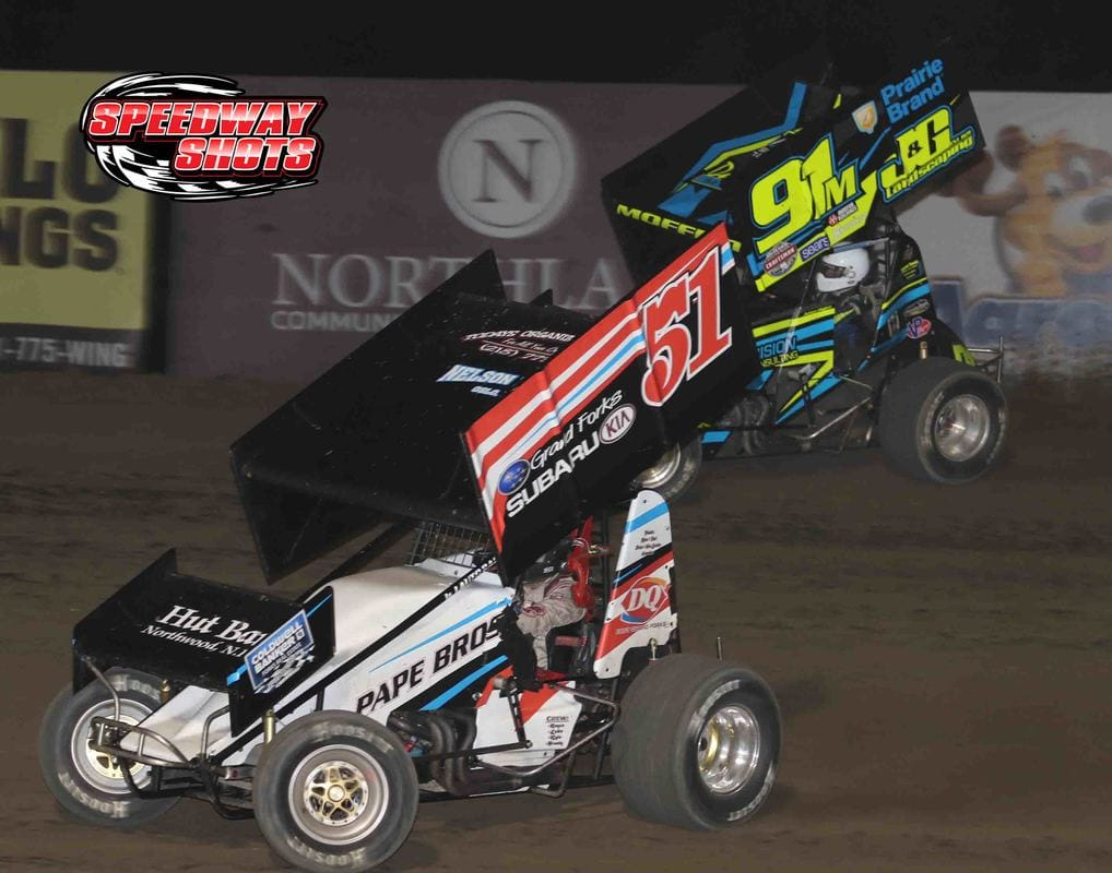 Alex Larson, Jackson Moffett, River Cities Speedway, NOSA sprints, NOSA sprint cars, sprint cars, outlaw sprint cars, grand forks, grand forks nd, north dakota